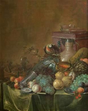 "FLEMISH SCHOOL ( / S. XVII) ""Still life of fruit and"