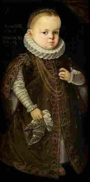"""ANONYMOUS (Pps.S.XVII / .) """"Portrait of Benigna"""", 1602"""