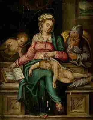 "FLEMISH SCHOOL (XVII / XVIII) ""Virgin with child"""