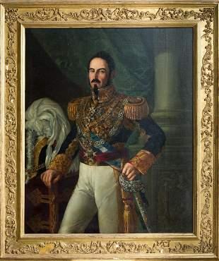 """ANTONIO GOMEZ CROS (1809 / 1863) """"Portrait of the"""