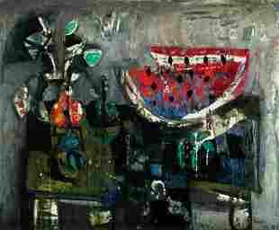 "ANTONI CLAVÉ (1913 / 2005) ""Still life with"