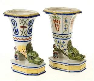Pair of French ceramic vases
