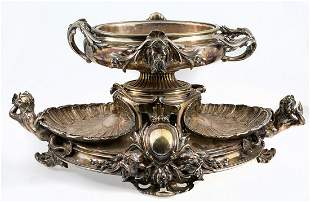 Silver plated metal centrepiece