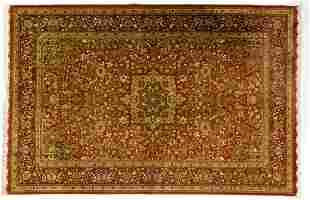Red Egyptian carpet