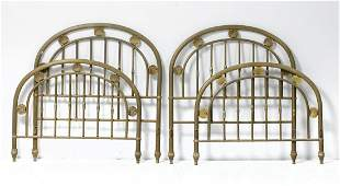Pair of brass beds