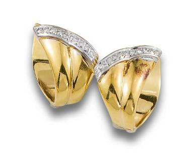 GOLD DIAMOND SCARF EARRINGS