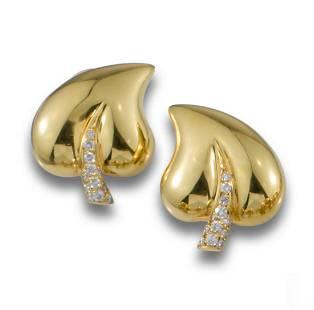 GOLD LEAF DIAMOND EARRINGS