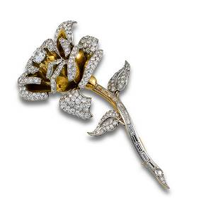 255 BROOCH ROSE GOLD DIAMONDS