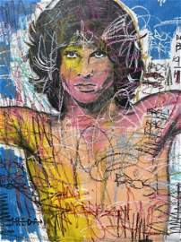 FREDA PEOPLE 'Jim Morrison' Original On Canvas