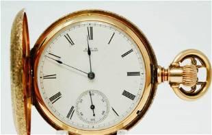 Waltham 1883 Royal Grade 13J 14K Pocket Watch