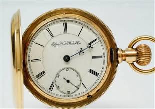 Elgin 1894 BW Raymond 15J Pocket Watch W14K Case