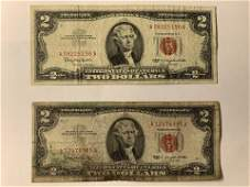 2 1963 2 Two Dollar Note Red Seal 100312 Bill