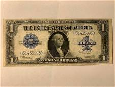 US 1923 1 LARGESIZE SILVER CERTIFICATE