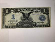 1899 US 1 Silver Certificate Large Note Black Eagle AU