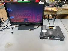 N64 NS1 CONSOLE and DOOM N64 GAME ninetendo 64
