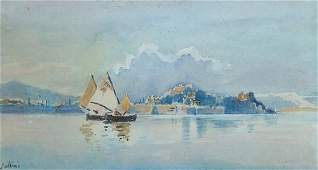 GIALLINAS Angelos (1857-1939) 'The old fort of Corfu'