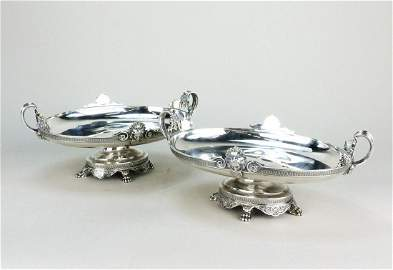 Pair SilverPlated Centerpieces