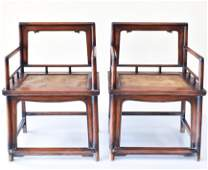 PR CHINESE HUANGHUALI ROSE ARM CHAIRS