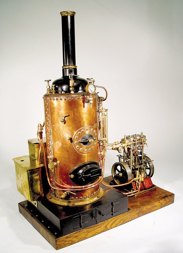 8: A FINE EARLY SWISS CLOCK MAKER' S STEAM PLANT