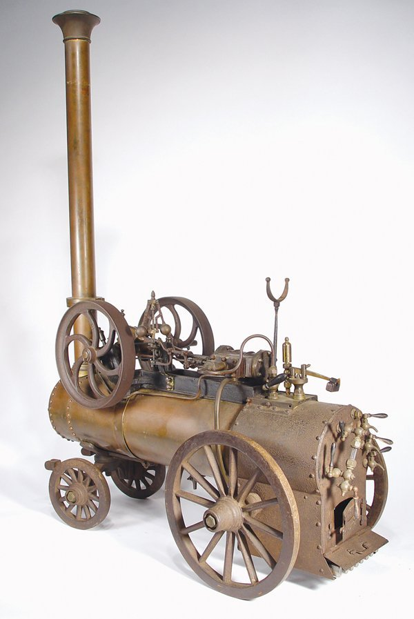 9: RARE RADIGUET FRENCH PORTABLE STEAM ENGINE MODEL