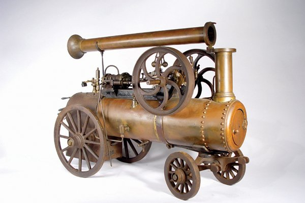 9: RARE RADIGUET FRENCH PORTABLE STEAM ENGINE MODEL - 2