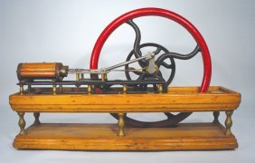 10: CA. 1860s BOX BED 2 HP HORIZONTAL STEAM ENGINE