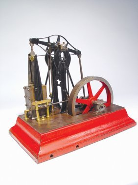 RARE MODEL OF AN EARLY CORLISS STEAM BEAM ENGINE