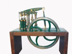 14: 1800s TWIN-CYL. WOLF COMPOUND BEAM STEAM ENGINE