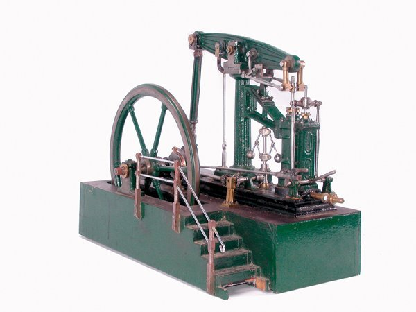 15: MODEL OF AN ENGLISH WALKING BEAM STEAM ENGINE