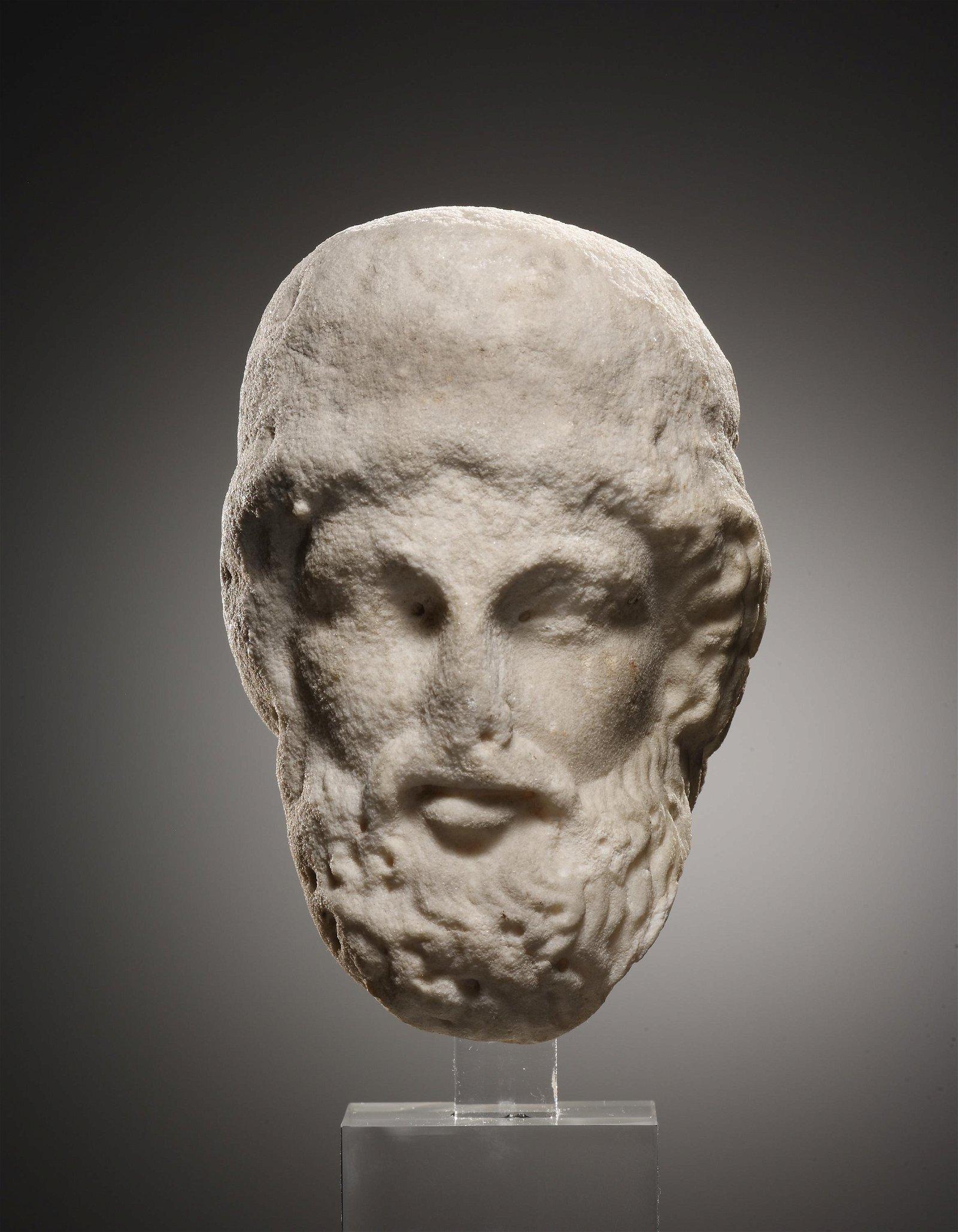 A Head of a Bearded Man, possibly Odysseus