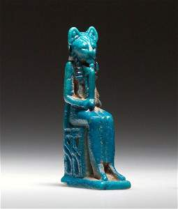 An Amulet with Sekhmet Enthroned