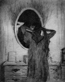 Frank W. Benson, Candlelight, 1915