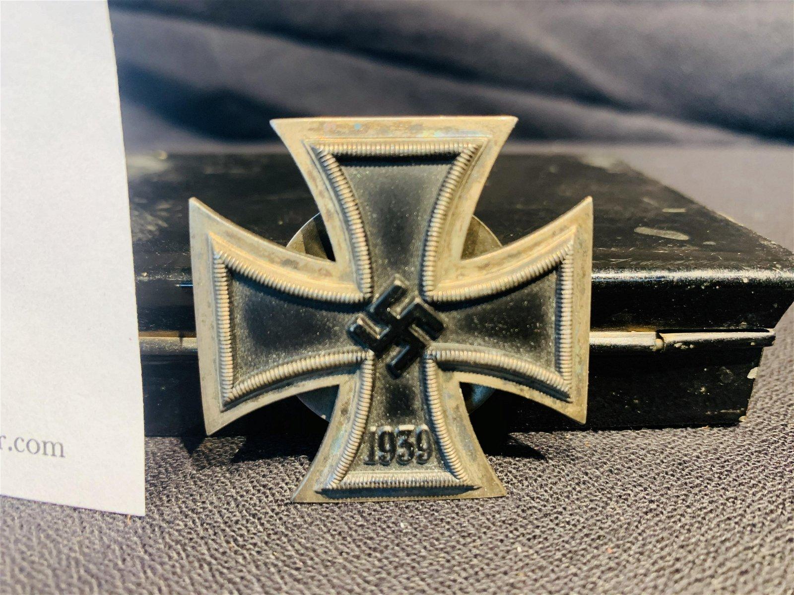 original 1939 IRON CROSS 1st Class NAZI German WWII