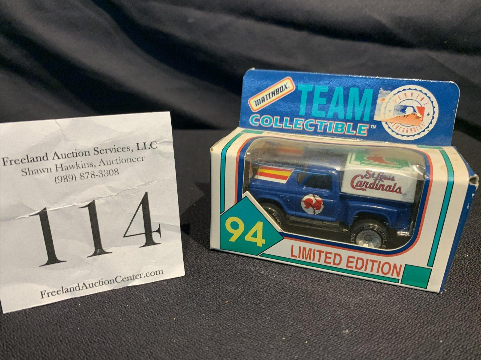 1994 St Louis Cardinals Limited Edition Matchbox car