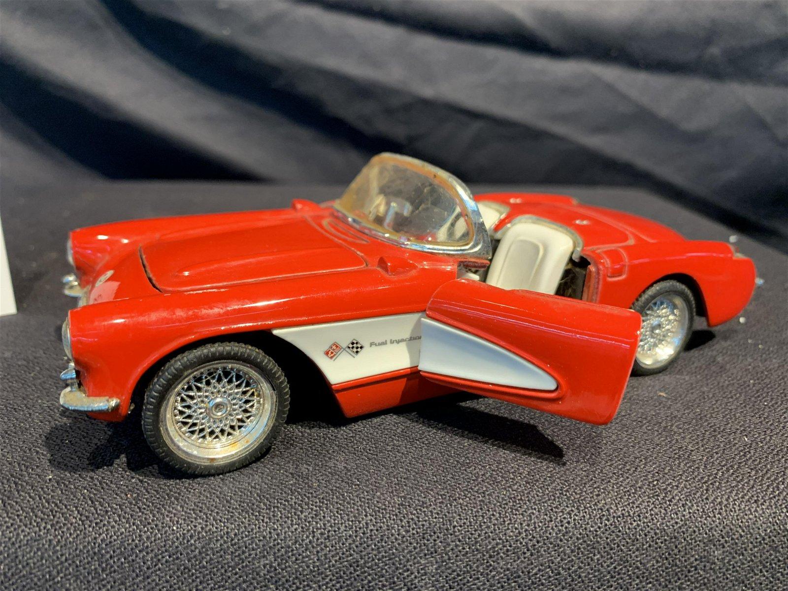 1957 Corvette convertible die cast metal car