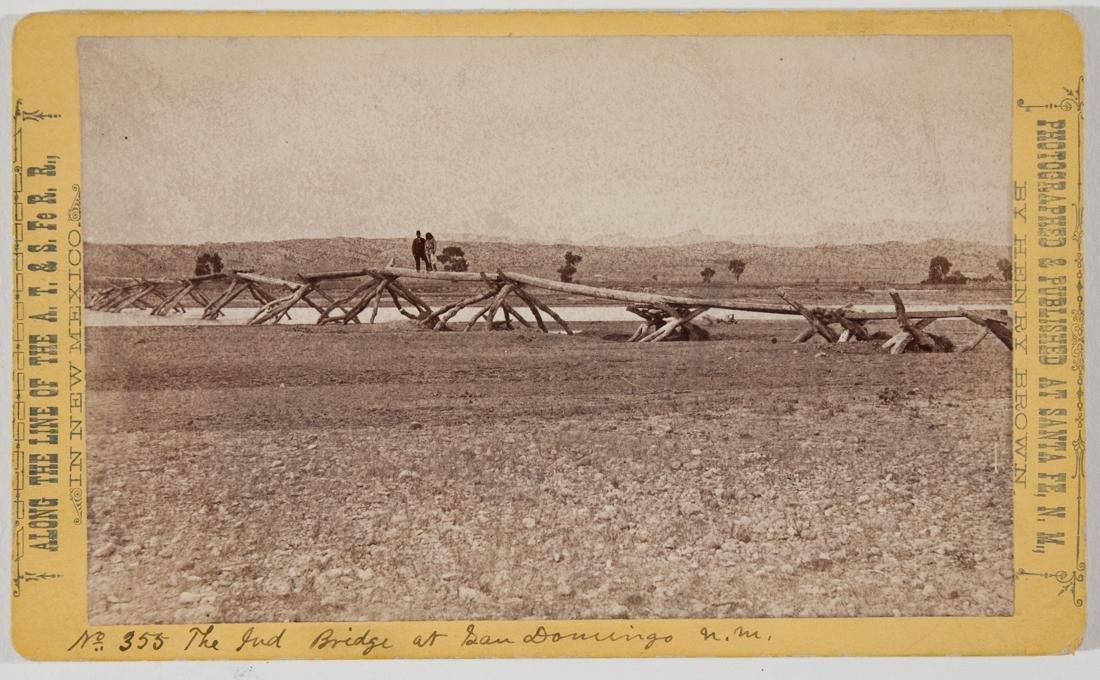 FOOTBRIDGE AT SANTO DOMINGO PUBELO, SAN JUAN 1882