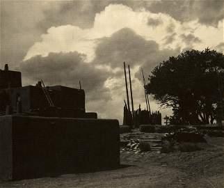 ANSEL ADAMS TAOS KIVA & CLOUDS vintage NM 1929