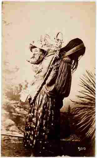 RANDALL & WITTICK APACHE MOTHER & PAPOOSE CA. 1884