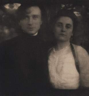 EDWARD STEICHEN Mr & Mrs Steichen 1906