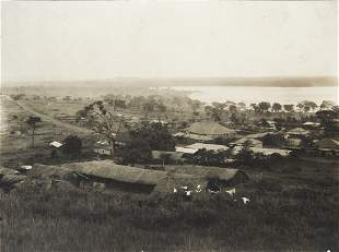 2 PRINTS Entebbe & Lower Lush Hills Rwenzori 1906