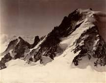 3 PANEL Panorama Tour around Mont Blanc Vintage