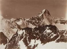 2 VIEWS Pennini Alps Dent Blanche 1880s