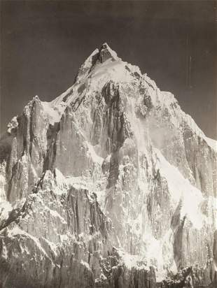 HIMALAYAS Mt Paiju from Baltoro Glacier 1909 Icon