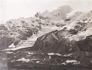 4 PANEL PANORAMA Siniolchu & Kangchenjunga 1899