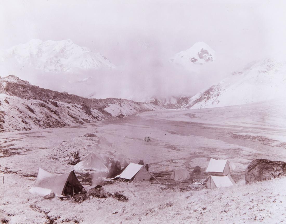 HIMALAYAS SELLA EXPEDITION CAMP on the Zemu Glacier