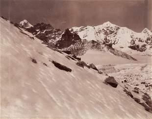 3 PANEL HIMALAYAS Panorama Tibetan Frontier 1899