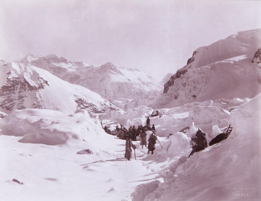HIMALAYAS Camping at 19,700 ft Johnsong La 1899