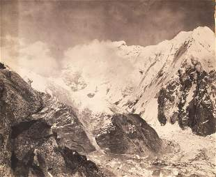 5 PANEL PANORAMA NEPALESE face of Kangchenjunga 1899