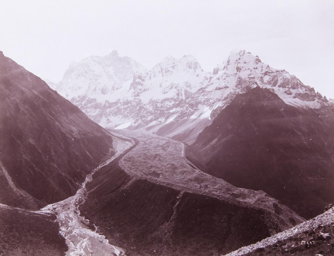 HIMALAYAS Jannu & Glacier 1899 spectacular