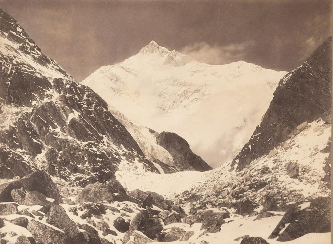 HIMALAYAS SIKKIM Kangchenjunga at Sunset 1899 sublime